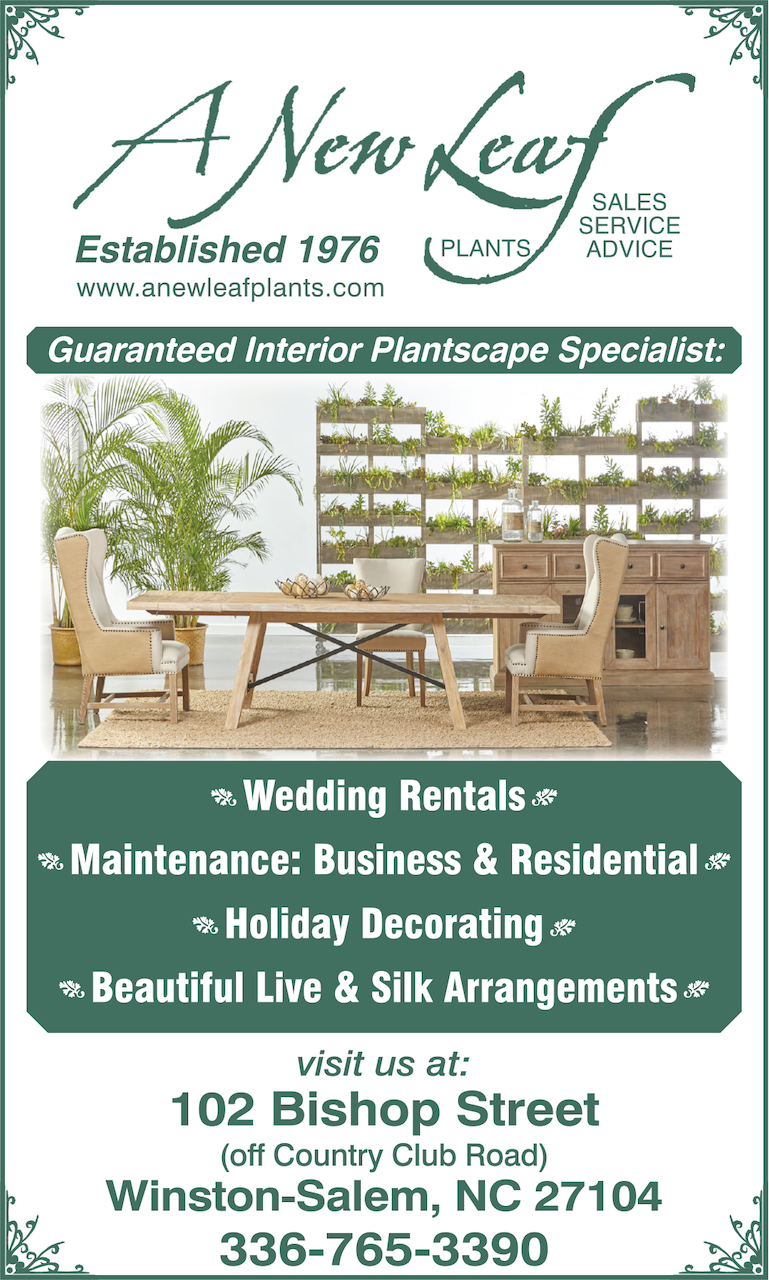 A New Leaf Plant services offerings